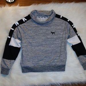 PINK Victoria's Secret Gray turtleneck sweater